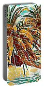 Abstracted Loop Palms Portable Battery Charger