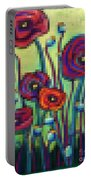 Abstracted Poppies Portable Battery Charger