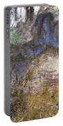 Abstraction In Color And Texture From Wet Rock Portable Battery Charger