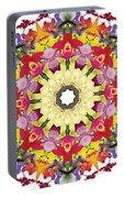 Abundantly Colorful Orchid Mandala Portable Battery Charger
