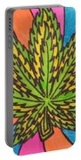 Aceo Cannabis Abstract Leaf  Portable Battery Charger