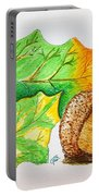 Acorn And Leaves Portable Battery Charger