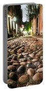 Acorn Street Cobblestone Detail Boston Ma Portable Battery Charger