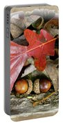 Acorns And Oak Leaves Portable Battery Charger