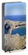 Acropolis Of Lindos Rhodes Portable Battery Charger