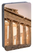 Acropolis Parthenon At Sunset Portable Battery Charger