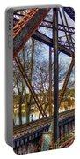 Across The Water 6th Street Rr Bridge Augusta Georgia Art Portable Battery Charger
