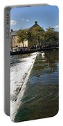 Across The Weir At Bakewell Portable Battery Charger
