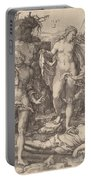 Adam And Eve Lamenting The Death Of Abel Portable Battery Charger
