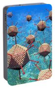 Adenovirus Particles 3 Portable Battery Charger