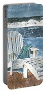Adirondack Chair Portable Battery Charger by Debbie DeWitt