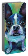 Adorable Boston Terrier Dog Portable Battery Charger