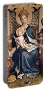 Adoration Of The Magi Altarpiece Portable Battery Charger by Stephan Lochner