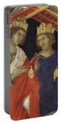 Adoration Of The Magi Fragment 1311 Portable Battery Charger