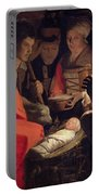 Adoration Of The Shepherds Portable Battery Charger by Georges de la Tour