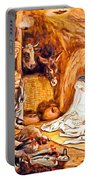 Adoration Of The Shepherds Nativity Portable Battery Charger