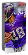 Adrian Peterson Minnesota Vikings Art Portable Battery Charger