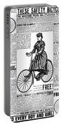 Advertisement, 1891 Portable Battery Charger