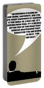 Advertising Is Happiness - Mad Men Poster Don Draper Quote Portable Battery Charger