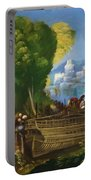 Aeneas And Achates On The Libyan Coast 1520 Portable Battery Charger