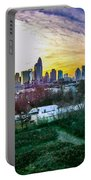 Aerial Of Charlotte North Carolina Skyline Portable Battery Charger