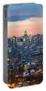 Aerial Of Midtown Manhattan With Empire State Building, New York Portable Battery Charger