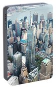 Aerial Of One World Trade Center, New York, Usa Portable Battery Charger