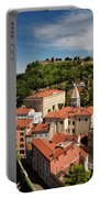 Aerial Of Piran Slovenia On Gulf Of Trieste Adriatic Sea With St Portable Battery Charger
