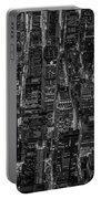 Aerial View Midtown Manhattan Nyc Bw Portable Battery Charger
