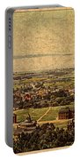 Aerial View Of Berkeley California In 1900 On Worn Distressed Canvas Portable Battery Charger