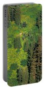Aerial View Of Forest On Mountainside Portable Battery Charger