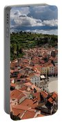 Aerial View Of Piran Slovenia On The Adriatic Sea Coast With Har Portable Battery Charger