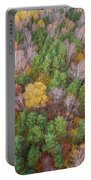 Aerial View Of The Forrest With Different Color Trees.  Portable Battery Charger