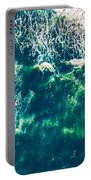 Aerial View Of The Ocean Portable Battery Charger