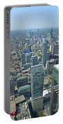 Aerial View Of Toronto Looking North Portable Battery Charger