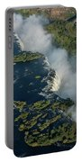 Aerial View Of Victoria Falls With Bridge Portable Battery Charger