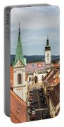 Aerial View Of Zagreb In Croatia Portable Battery Charger