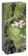 Aerial View Over Golf Field In Poland. Summer Time. Portable Battery Charger