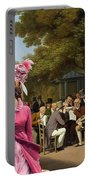 Afghan Hound-politicians In The Tuileries Gardens  Canvas Fine Art Print Portable Battery Charger