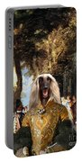 Afghan Hound-the Winch Canvas Fine Art Print Portable Battery Charger