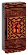 African Collage Rust Portable Battery Charger