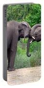 African Elephants Interacting Portable Battery Charger