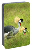 African Gray Crown Crane Portable Battery Charger