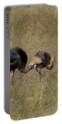 African Grey Crowned  Crane With Chick Portable Battery Charger
