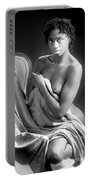 African Nude Kneeling On Chair 1191.01 Portable Battery Charger