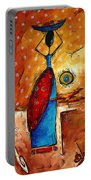African Queen Original Madart Painting Portable Battery Charger