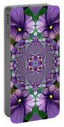 African Violet Wave Portable Battery Charger