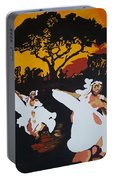 Afro Carib Dance Portable Battery Charger