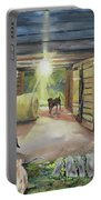 After Hours In Pa's Barn - Barn Lights - Labs Portable Battery Charger