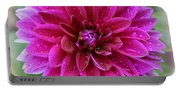 After The Rain - Purple Dahlia Portable Battery Charger